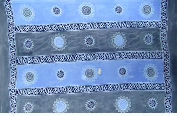 Plus Size Baliku Fringeless Mens Sarong in Blue