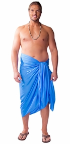"PLUS SIZE ""Light Blue"" Mens Sarong"