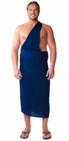 "PLUS SIZE Mens Sarong ""Navy Blue"""
