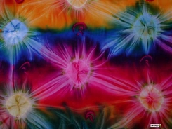 PLUS Sized Mens Sarong Tie Dye in Diamond Rainbow FRINGELESS