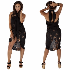 "Plus Sized Sarong Bamboo ""Black"""