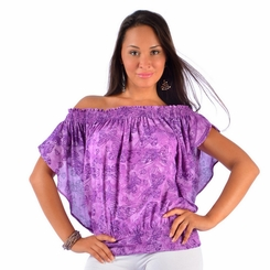 Purple Butterfly  Cover-Up Top
