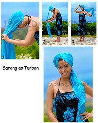 Sarong as Head Wrap