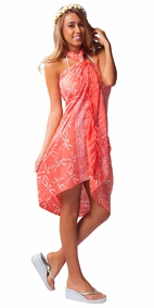 Dragonfly Sarong in Peach