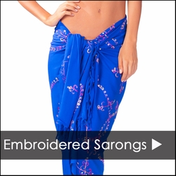 Hand Painted, Embroidered, & Sequined Sarongs