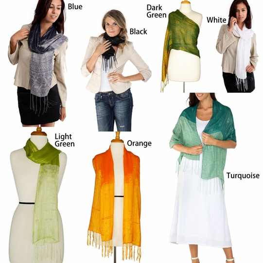 Scarves with Gold Thread