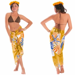 Seashell Sarong in Brown
