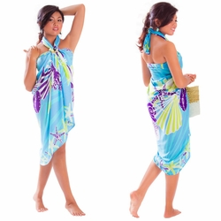 Seashell Sarong in Turquoise