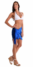 Sequined / Embroidered / Beaded Half Sarong in Blue