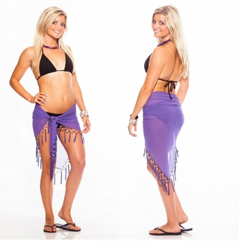 "Sheer Sarong ""Purple"""