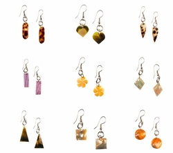 Set of 6 Shell Earrings - Assorted