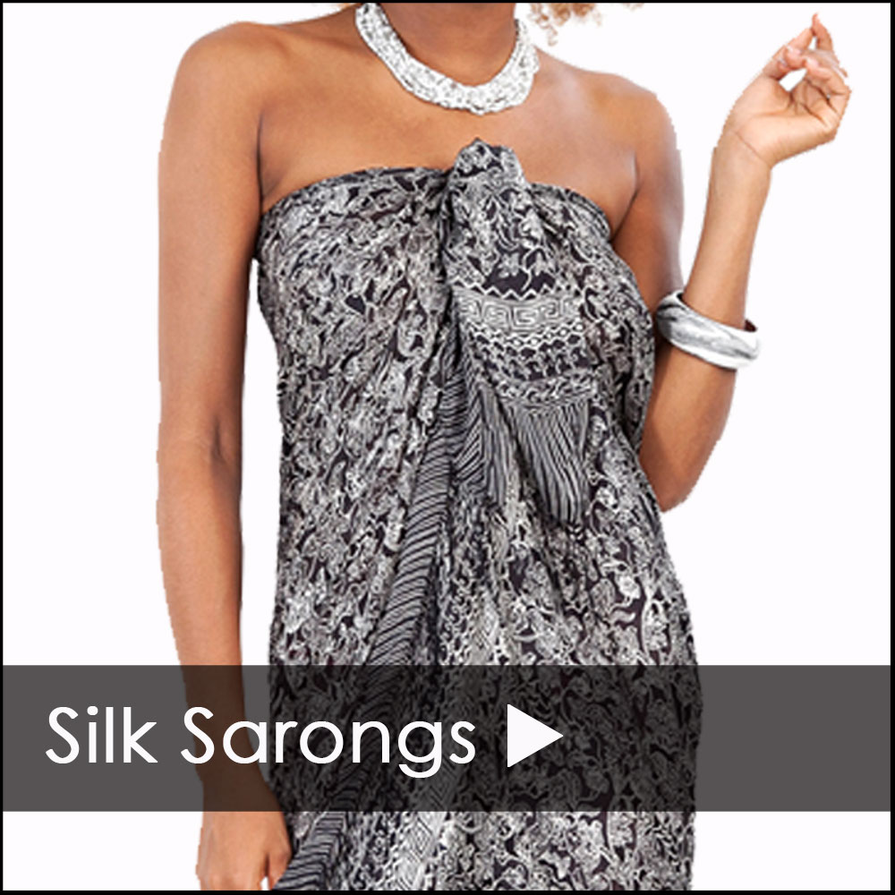 Silk Sarong Cover Ups - Silk Sarongs On Sale