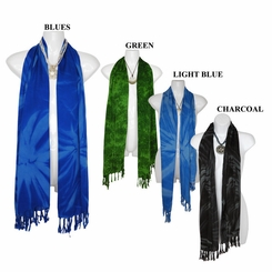 Smoked Motif Neck Scarf, Wrap or Shawl - in your choice of colors