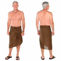Solid Khaki Green Mens Sarong