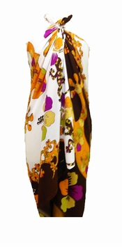 Split Color Gecko Sarong in Brown