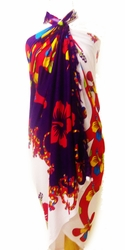 Split Color Gecko Sarong in Purple