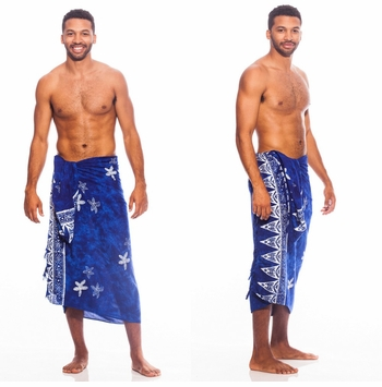 Starfish Mens Sarong in Blue