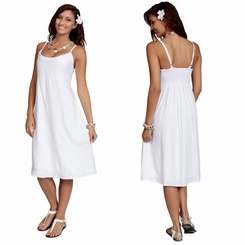 Summer Sun Dress - Sundress in White