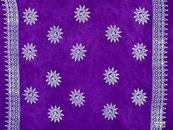 Sun Celestial Mens Sarong in Purple White