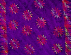 Sun Celestial Mens Sarong in Purples W/ Multicolor
