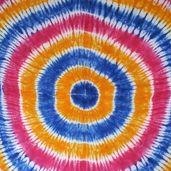 Tie Dye Mens Sarong in Blues, Pinks and Gold