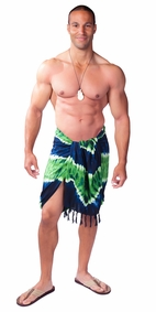 "Tie Dye Mens Sarong ""Jungle"""