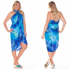 Tie Dye Sarong in Blue and Turquoise