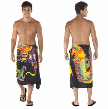 Top Quality Dragon Mens Sarong