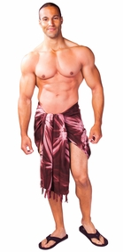 Top Quality Smoked Mens Sarong in Brown / Light Brown
