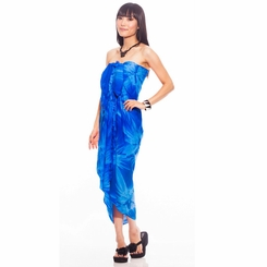 Top Quality Smoked Sarong in Blue