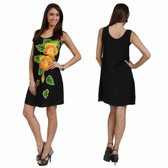 Tropical Summer Sundress with Hand Painted Batik