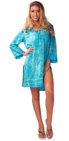 "Tunic Cover-Up ""Paisley Paradise"" Turquoise"