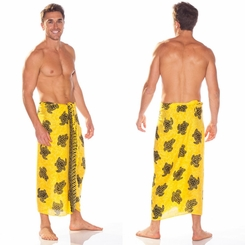 Turtles Mens Sarong in TU-17 Yellow