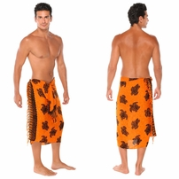"Turtles Mens Sarong ""TU-19"" Orange"