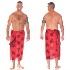 Turtles Mens Sarong TU-20 Red/Black