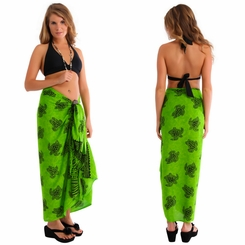 "Turtles Sarong ""TU-18"" Lime Green"