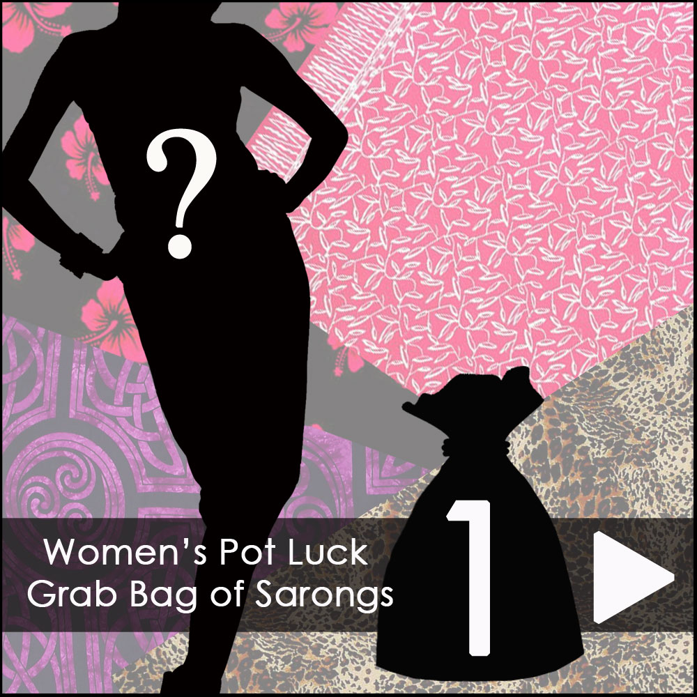 Women's Pot Luck Grab Bag of Sarongs - 1 Sarong picked