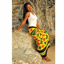 "Yellow/Green/Orange Butterfly Sarong ""BF 14"""