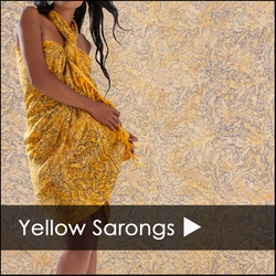 Yellow Sarong Cover Up - Yellow Sarongs From $8.99