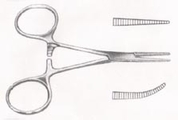 """HARTMAN Mosquito Forceps, 3-1/2"""" (8.9 cm), curved"""