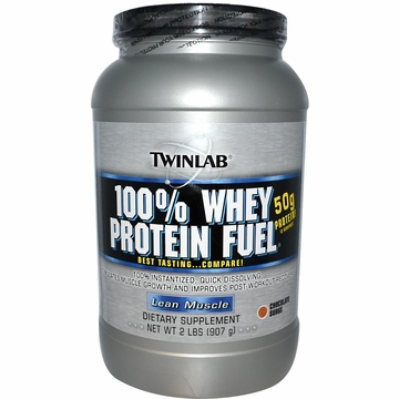 Twinlab 100% Whey Fuel Powder Double Chocolate Flavor - 2 Pounds