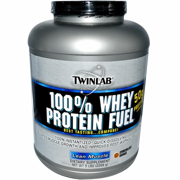 Twinlab 100% Whey Fuel Powder Double Chocolate Flavor - 5 Pounds