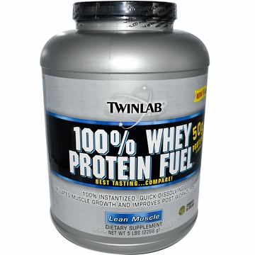 Twinlab 100% Whey Protein Fuel Powder Cookies & Cream Flavor - 5 Pounds