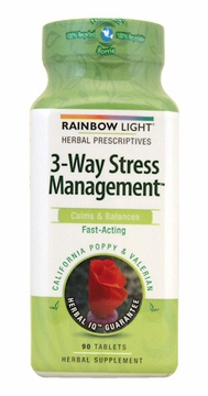 Rainbow Light 3-Way Stress Management - 90 Tablets