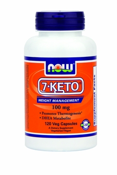Now Foods 7-Keto 100 mg - 120 Vegetarian Capsules