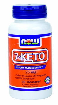 Now Foods 7-Keto 25 mg - 90 Vegetarian Capsules