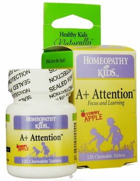 A+ Attention by Herbs For Kids - 125 Chewable Tablets