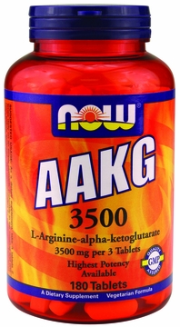 Now Foods AAKG 3500 mg - 180 Tablets
