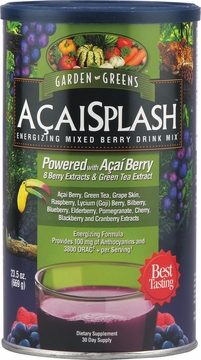Acai Splash (Formerly Berry Splash) Mixed Berry Drink by Garden Greens - 23.5oz Powder