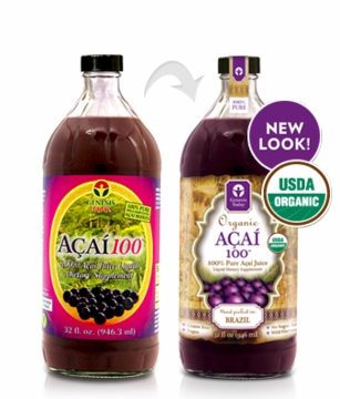Acai100 100% Acai Juice Supplement by Genesis Today - 32oz.